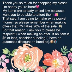 Other - A message about pricing and offers 😊